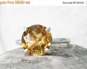 SUMMER SALE - Citrine ring,silver ring,November birthstone ring,birthday ring,luck energy ring,healing ring