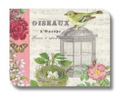 Collage paper napkin for mixed media, collage, decoupage, scrapbooking  x 1 Oiseaux. No 1265