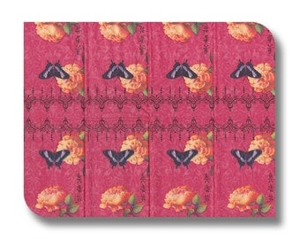 Pink paper tissue for decoupage  x 1 China Rose . No 1192