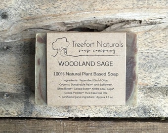 Woodland Sage Soap - Handmade soap, Cold Process, All Natural soap, vegan soap, essential oils, scented soap