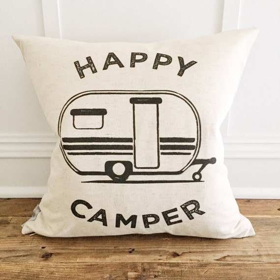 Retro Happy Camper Pillow Cover