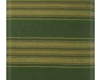 Better at the Lake Yarn Dye Stripes Green Fabric by One S1ster Designs