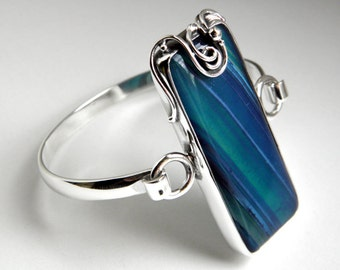 SALE 20% OFF!!! Use the coupon code: SALE20 Blue agate and sterling silver bracelet