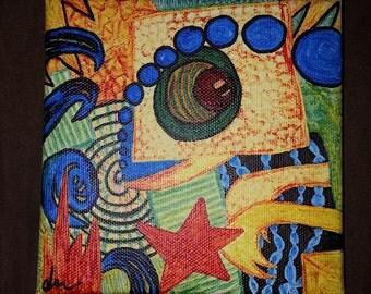 """5x5"""" Reptilian Canvas"""