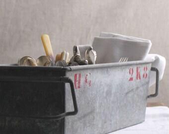 Vintage Zinc Storage Bins