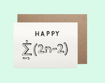 Maths 18th Birthday Card - Colour it in yourself