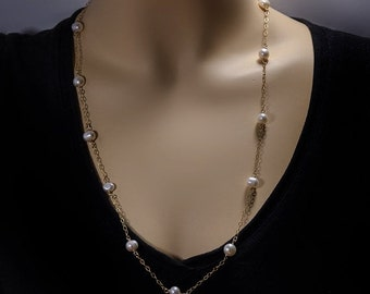 SALE 30% OFF Goldfilled -Gold Filled necklacet with Pearls one of a kind