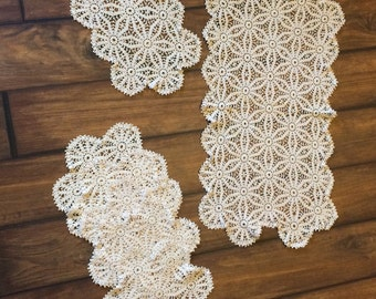 Crochet Doily Set