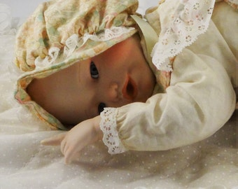 "Adorable ""Lisa"" Porcelain Baby Doll by Yolanda Bello under the Hallmark Edwin M. Knowles China Company"