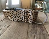 Dog Collar, Leather Dog Collar,  Wild Cheetah, Leather Collar, Leopard Leather Dog Collar,  Martingale Dog Collar, Leather Martingale Collar