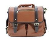 C113 Peru PU Leather Camera Bag w/ Shoulder Strap
