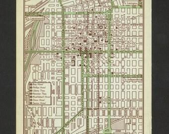 Vintage Map Kansas City Missouri Original 1951