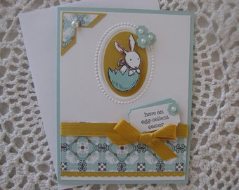 Handmade Greeting Card: Egg-Cellent Easter