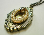 Diffuser locket & scent pad necklace. Recycled jewelry, Handmade jewelry, Repurposed jewelry,Upcycled,Free USA shipping,Made in USA/Michigan