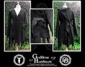 Plus Size Tendril Coat, Witchy Spirals, Elven, Pixie, Polar Fleece