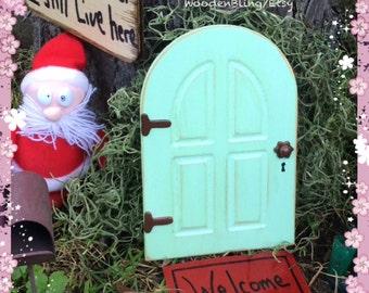 Fairy Garden, Fairy Door, Green Fairy Door, Garden Decor, Garden, Miniature Door, Outdoor, Tree, Birthday Gift, Gift for Her, Housewarming