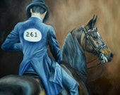 Horse Art Nicole Smith Artist Equine Art Saddleseat Show horses Morgan original oil painting