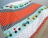 """Baby Play Mat Padded Floor Blanket Personalize Chevron Cars Dots Stars Quilt Boys Tummy Time Newborn Gift Baby Shower Nap Mat 35"""" x 35"""""""