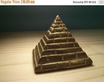 SALE - Brass Pyramid
