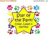 Sale 50% Off Star of the Park Package - Collar, Leash and Traditional or Step-In Harness!, Dog Harness Set