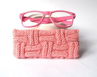 Pink Glasses Case. Eyeglasses Case. Sunglasses Case. Reading Glasses Case. Eyeglasses Holder. Sunglasses Holder.