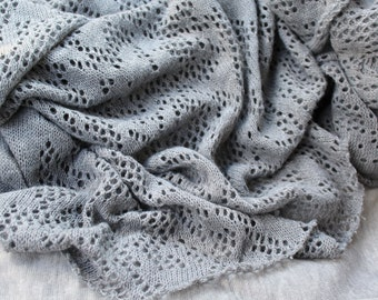Newborn Wrap Gray Baby Wrap Baby Stretch Knit Blanket Grey Baby Wrap Smoke Blanket Newborn Photo