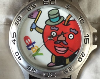 RARE Vintage EBay Promotional Watch LIKE NEW in Package All Original Late 90s