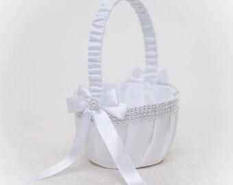 Flower basket girl - white and ligh pink