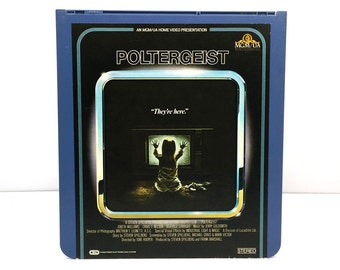 1982 Poltergeist RCA SelectaVision VideoDisc CED / Vintage Movie Art /Horror Movie poster