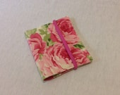 Business Loyalty Card Keeper Shabby Chic Roses One of a Kind Gift Idea For Her