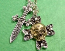 Captain Hook Keychain or Necklace