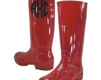 Monogram 13.25 Inches Women's Rain Boots