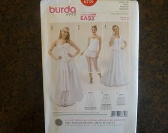 Burda 6739: Petticoat in 3 lengths