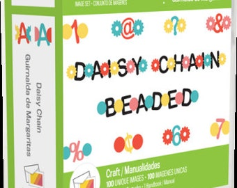 DAISY CHAIN FONTs -  A BRaND  New CARTRiDGE for your CRICuT MACHiNE !  EXPLORE and EXPRESSiON