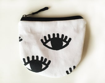 eye print coin pouch