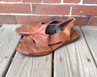 Early 90s LL BEAN brown leather huaraches sz 11 wide