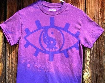 Made to order Purple Melting Yin Yang Eye Tee