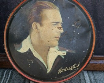 Beautebox Canco Tin From the 1920s With a Picture of Wallace Reid by Henry Clive