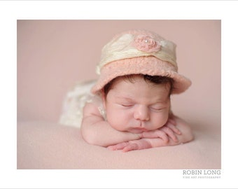 Organic~Felted Bowler~Baby felt hat~Hand knit and felted~Organic hat~ Twins~Newborn photo prop~infant prop~baby hat