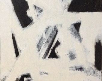 Large Black and White Abstract Art/Painting