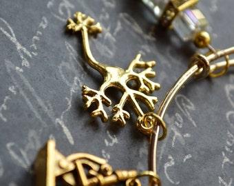 Biolojewelry - Neuron Microscope Science Chemistry Bangle Bracelet