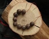 Set of 9 ceramic beads - eco-friendly ceramic  round beads