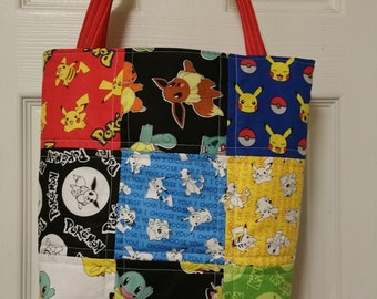 Quilted Pokemon purse/bag (1)