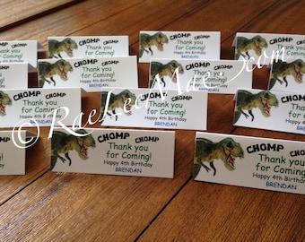 Dinosaur Treat Bags tags/candy tags/Dinosaur table placement cards/Dinosaur Favor Bags tags/Dinosaur Party tags