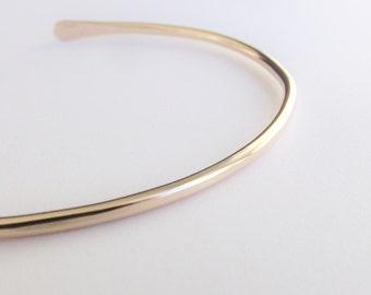Simple Gold Minimal Cuff Bracelet, Slim Gold Cuff Bracelet, Cuff Bracelet, Gold Bracelet, Simple Bracelet, Minimal, Boho Chic, Gold Cuff
