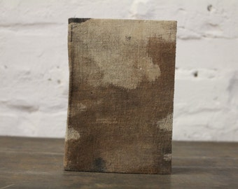 "Upcycled Hardcover Notebook ""Rustic Cinderella"" from Letterpress Ink Rags"