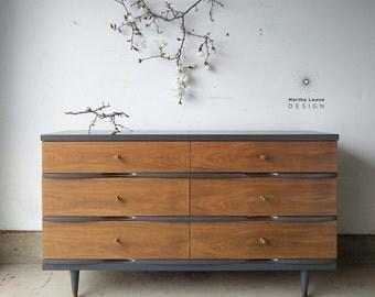 PORTFOLIO: Mid Century Stanley 6 Drawer Dresser