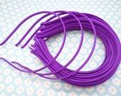 10 pcs Purple  Cloth Covered Headband 5mm Wide