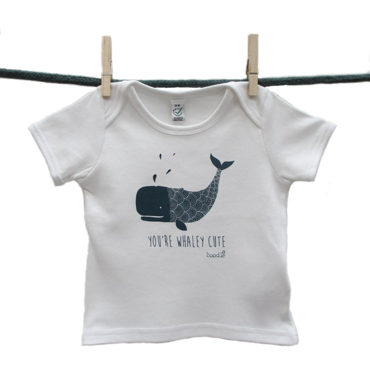 Organic You Re Whaley Cute Baby T Shirt Hand By
