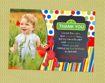 Elmo Sesame Street Birthday Thank You cards, Thank Yous, Thank You Notes, Sesame Street